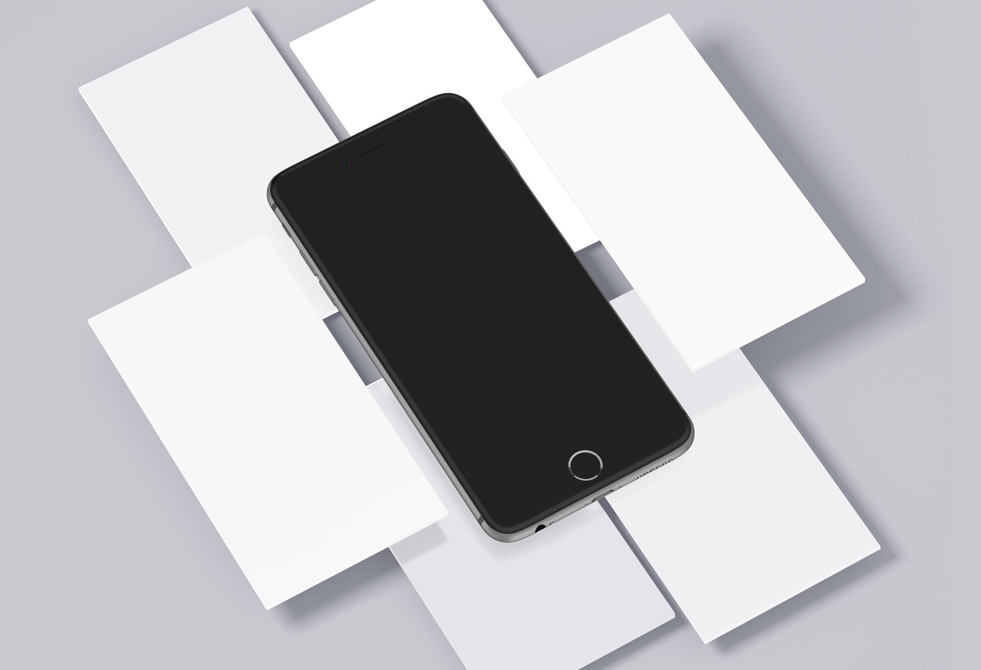 iPhone & Mobile Screens Mockups