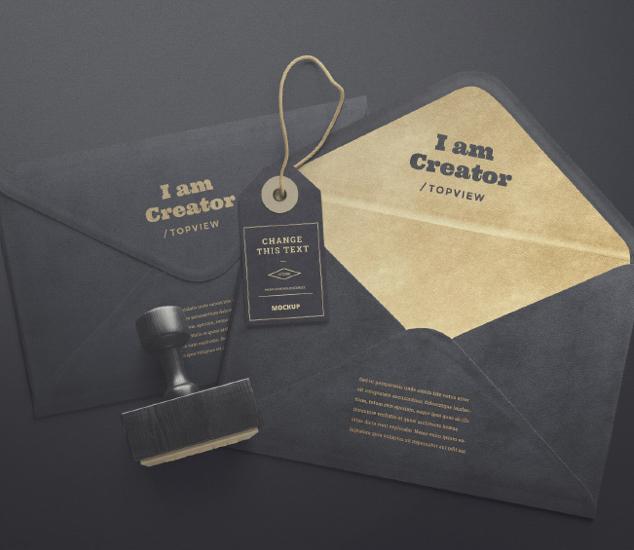 Envelope and Tag Mockups