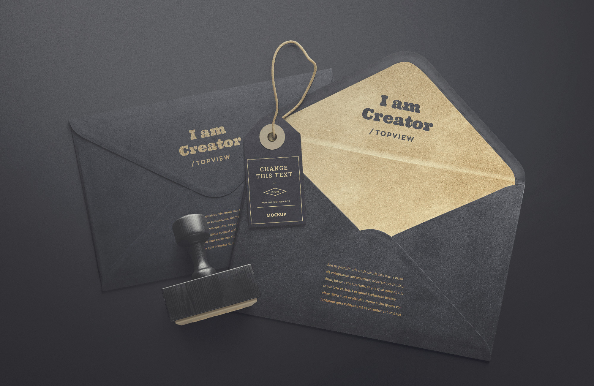 Envelope and Tag Mockups