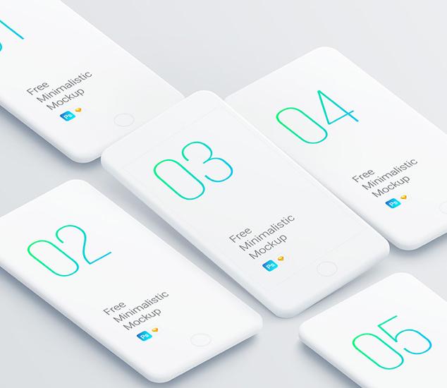 Minimalistic Smartphones Mockups