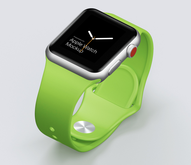 Apple Watch Mockups in Different Materials
