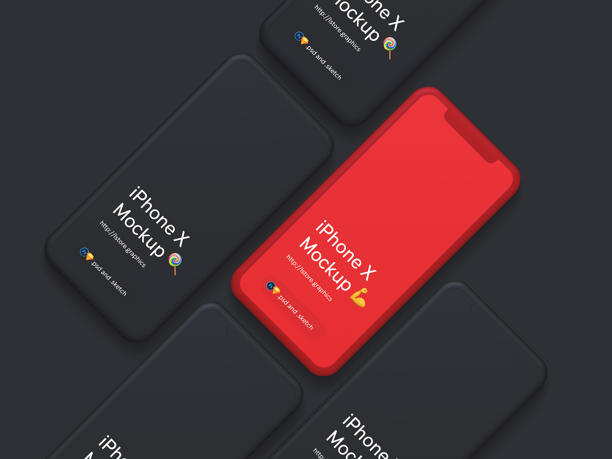 Download Free Simple iPhone X Mockups Design