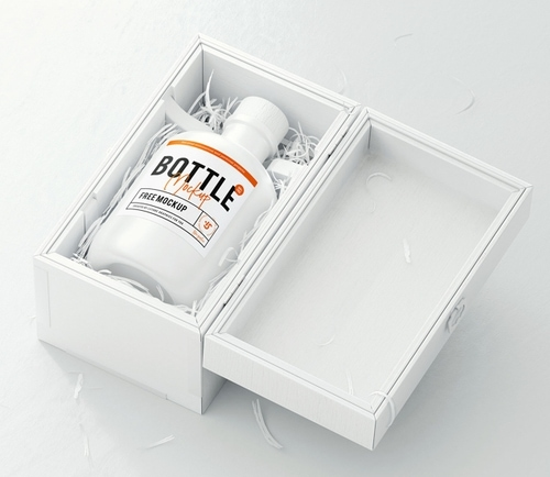 Bottle Logo Mockup