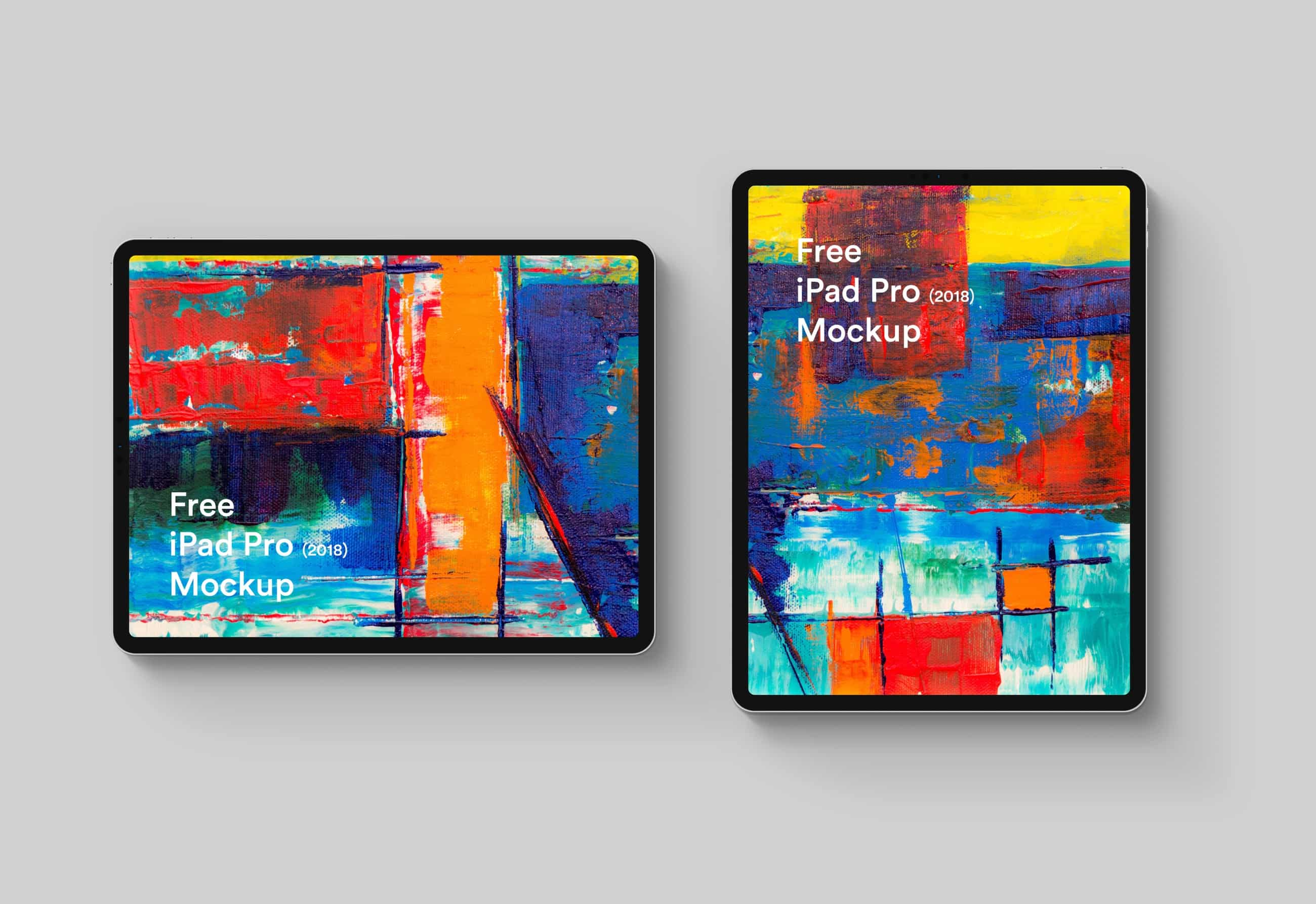 Free iPad Pro 2018 Easy to use Mockup