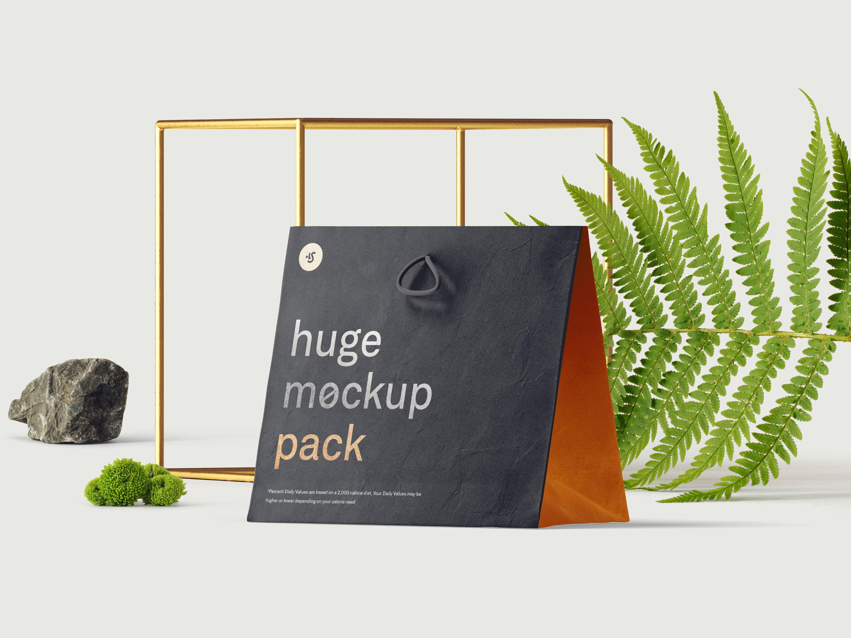 Free Bag Mockup Scene