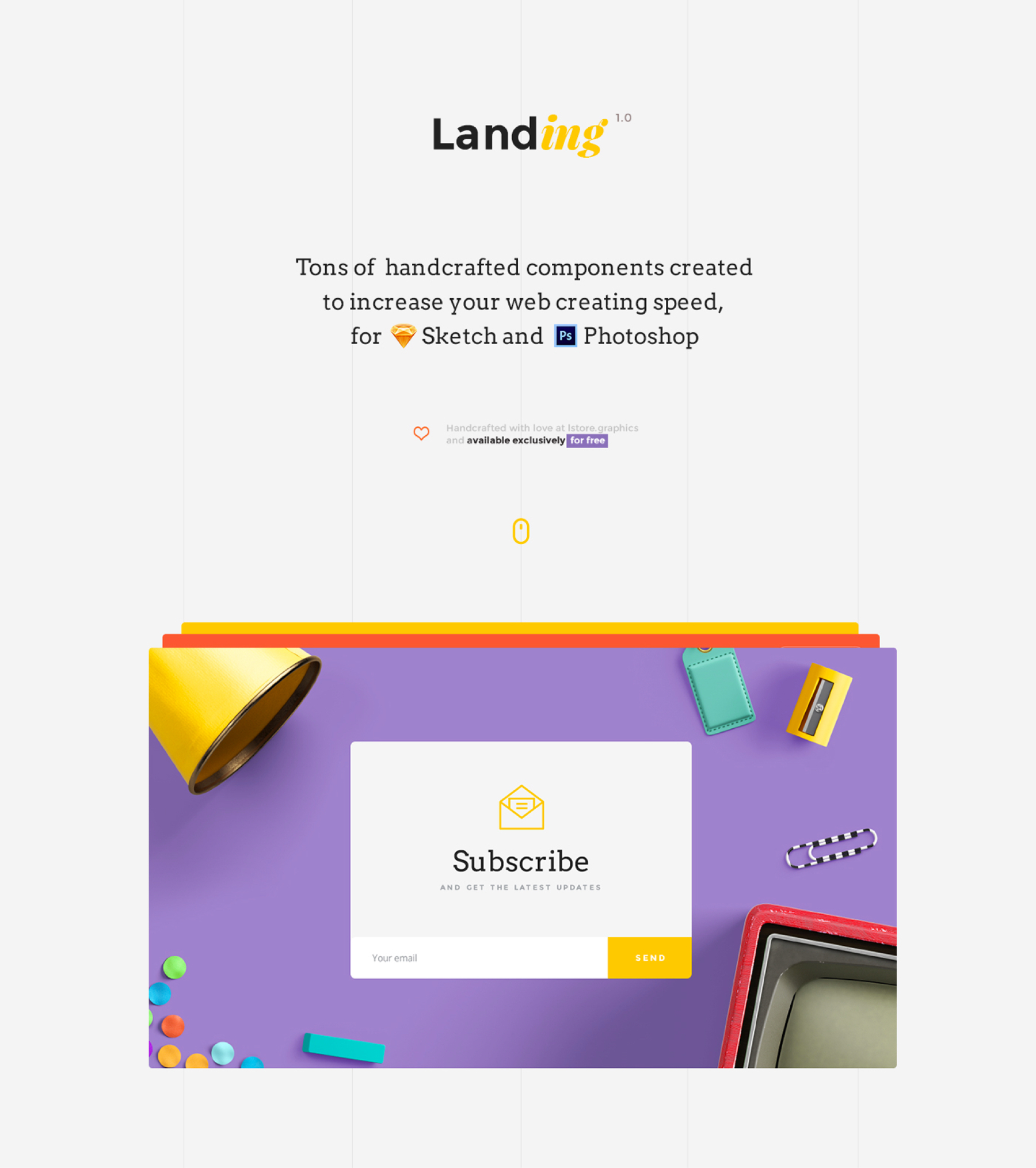 UI Kit Landing Page | LS Graphics