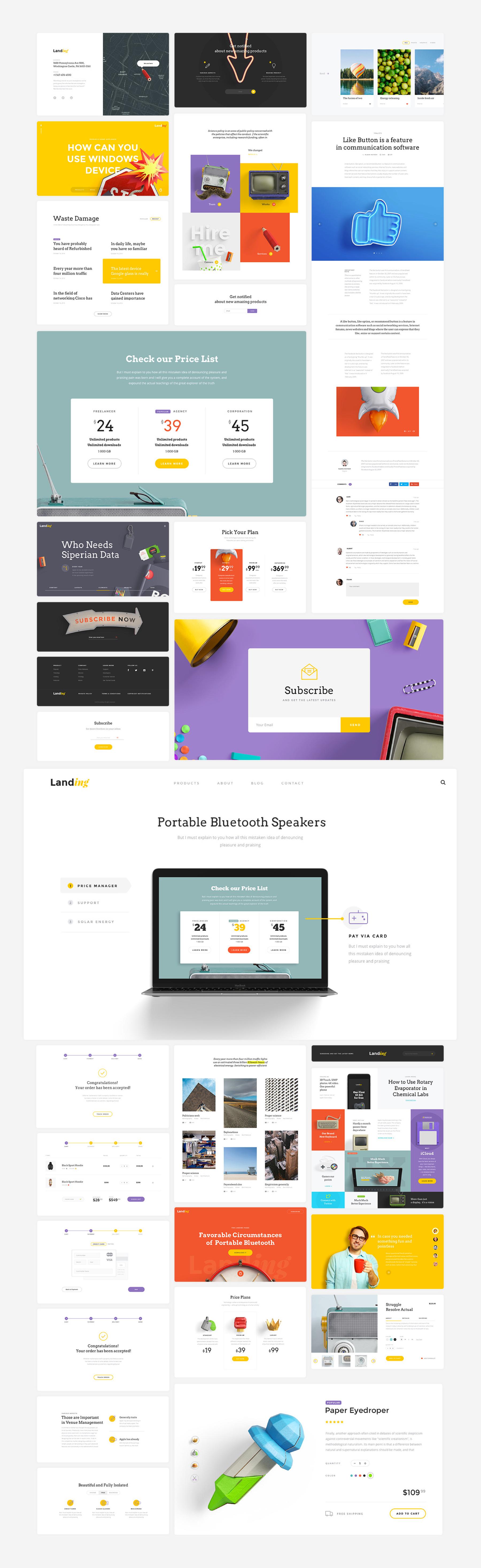 UI Kit Landing Page | LS Graphics