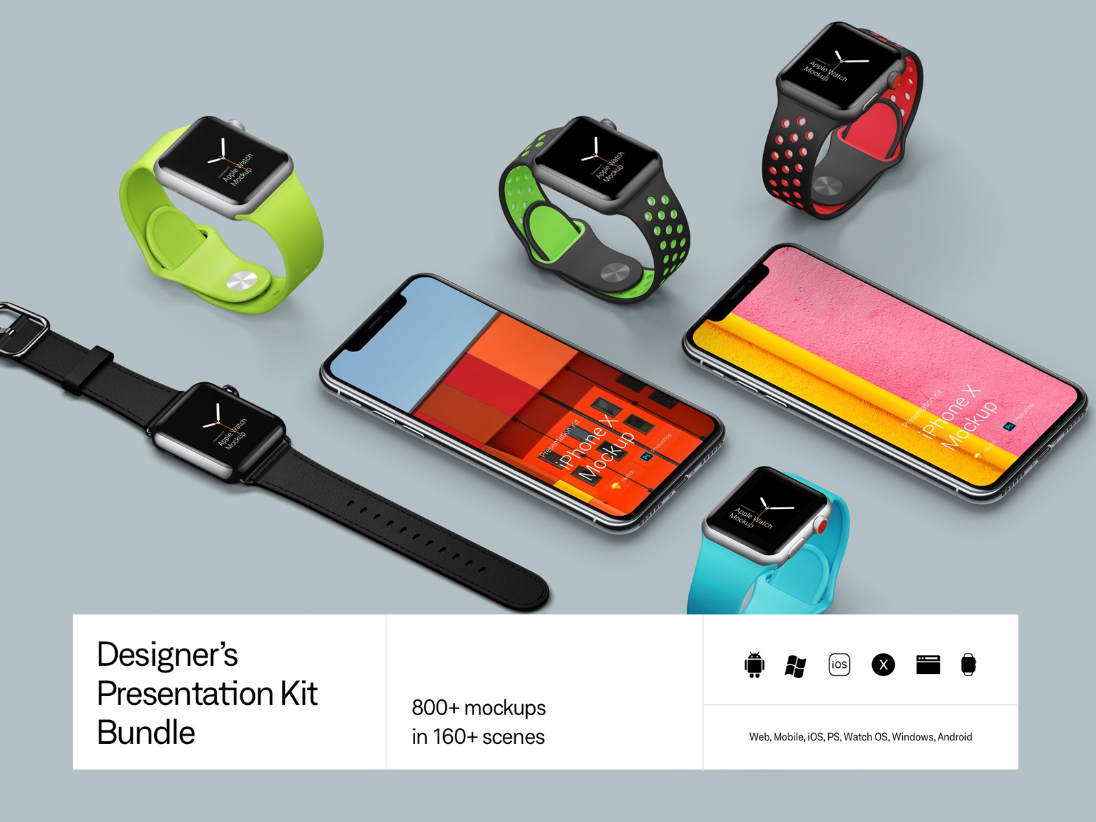 Biggest mockup pack. All types of devices.