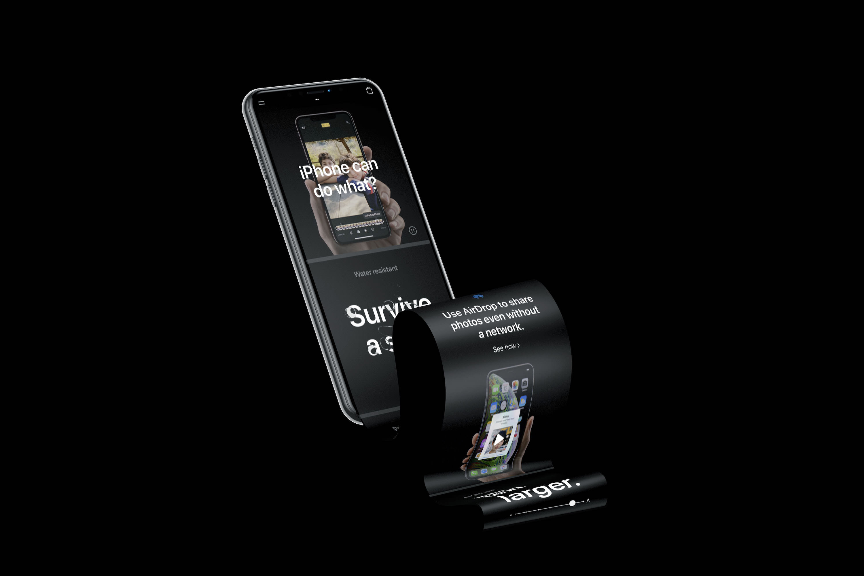 Free iPhone XS Longscroll Mockup