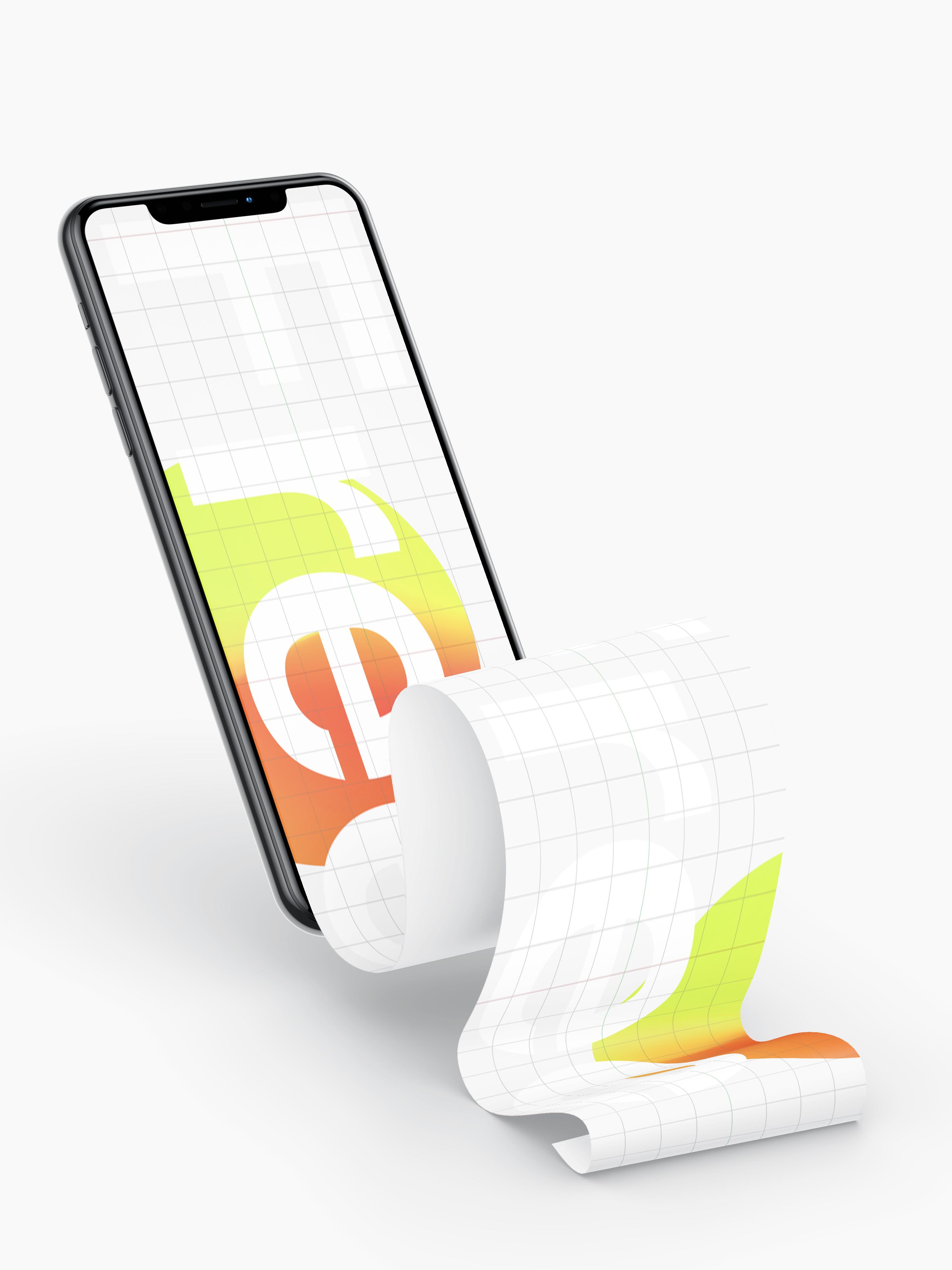 Download Free iPhone XS long screen Mockup