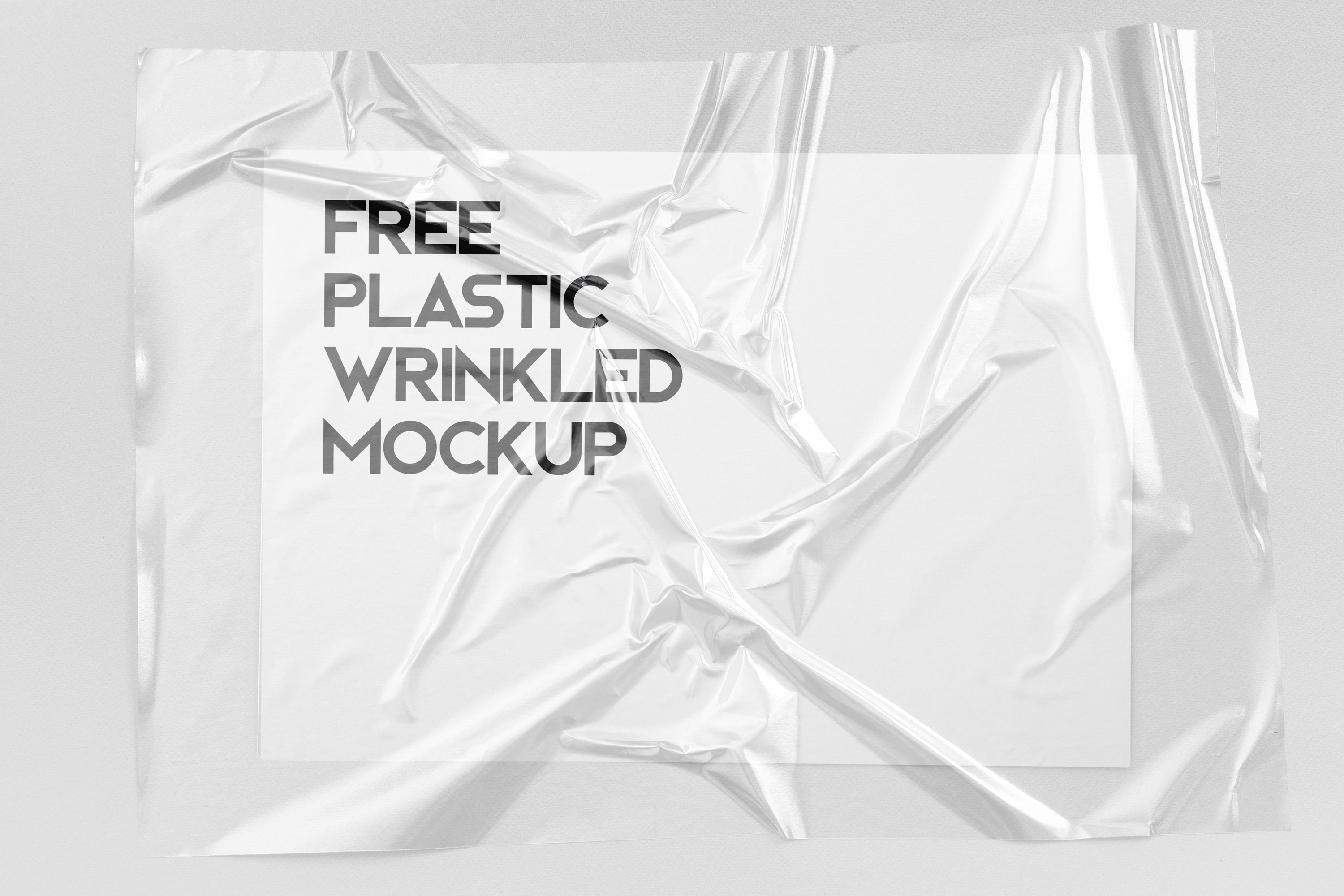 Free Plastic Wrinkled Reflections Mockup