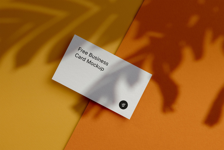 Free Business Card Mockup for Photoshop, Sketch, Figma