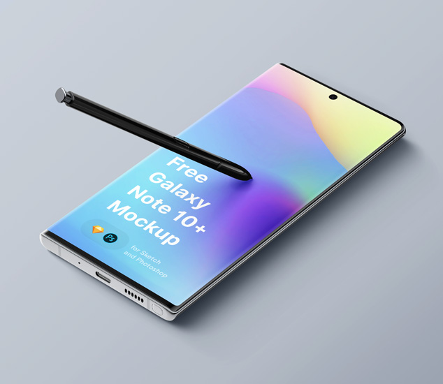 Free Samsung Galaxy Note 10 Plus Mockup