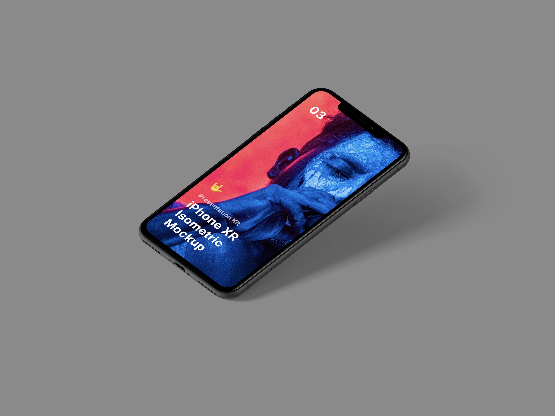 Free Isometric iPhone XR Mockup | LS Graphics