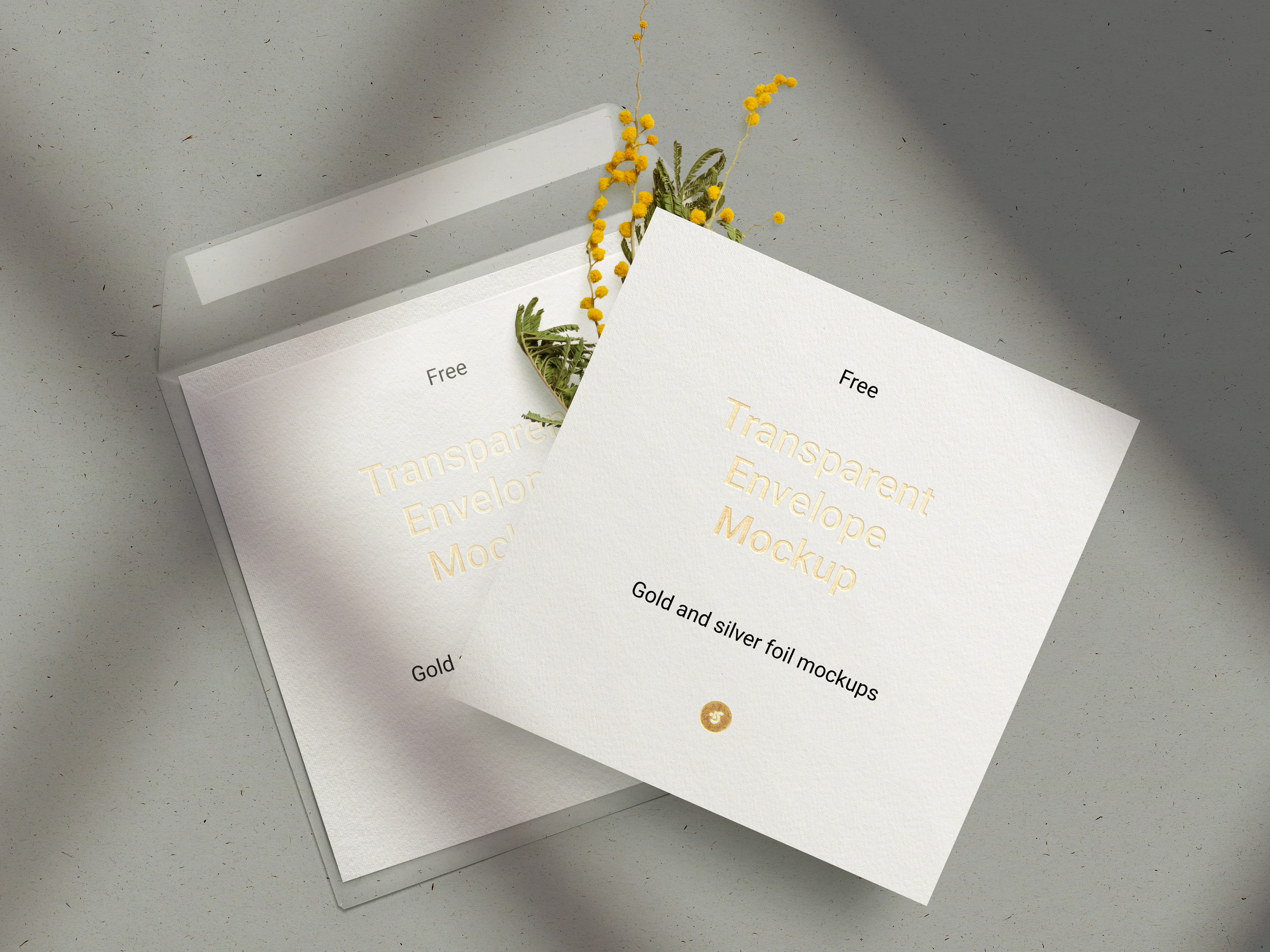 Free Envelope & Card Mockup