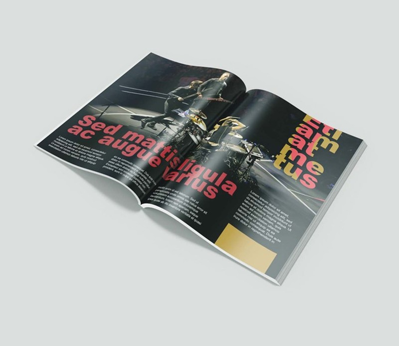 Free Glossy Magazine Mockup