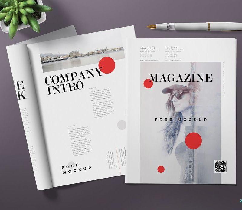 Two Magazines Mockup Scene