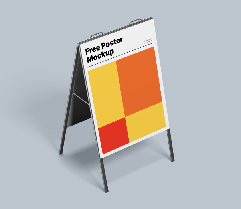 Two A-Stand Poster Mockups