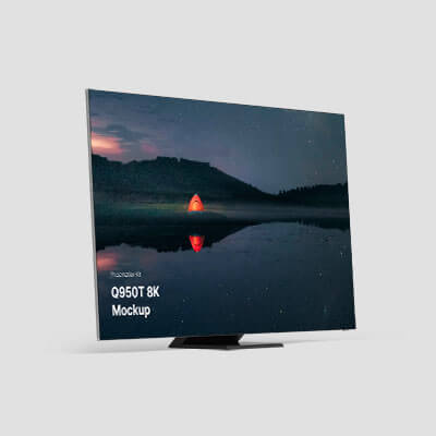 Samsung TV mockups, realistic and clay renders