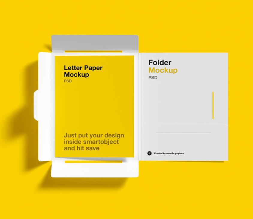 Download brochure folder mockup for free