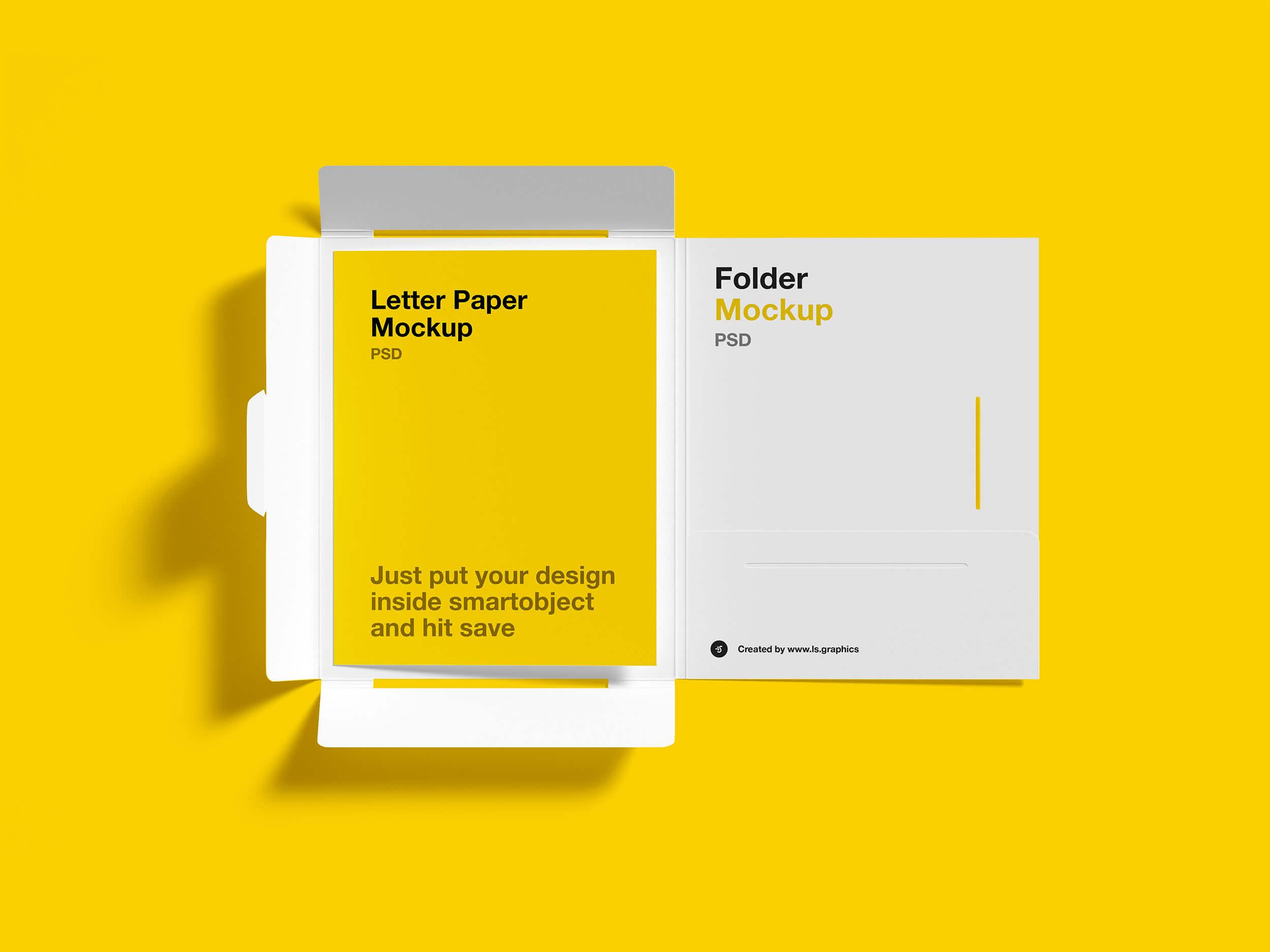 Free Brochure Folder and Letter Mockups
