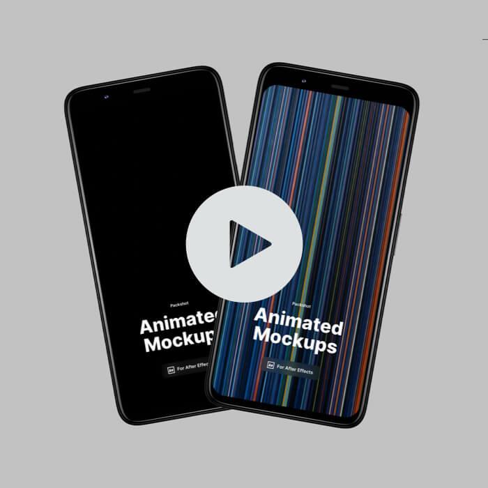 Pixel 4XL Packshot Animated Mockups