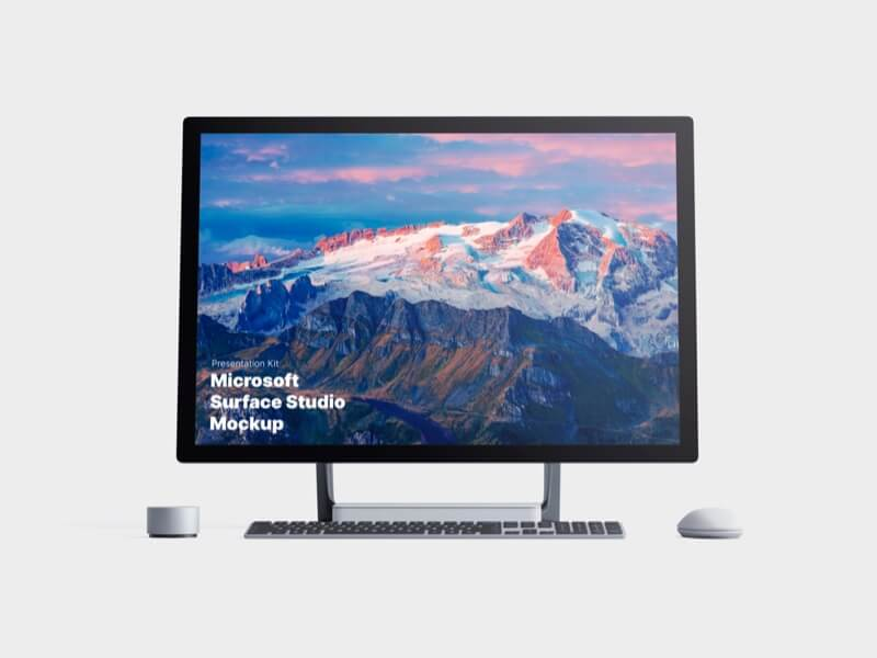 Surface Studio Mockups