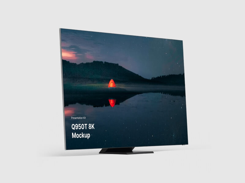 Samsung TV Mockup  (Q950T 8K)