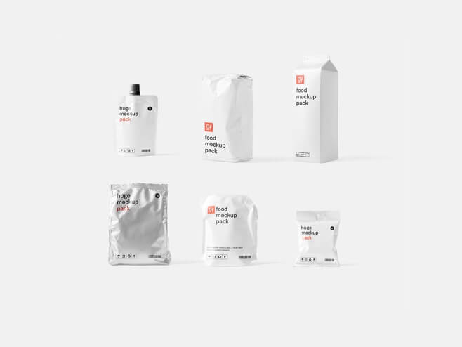 Food Packages Mockups