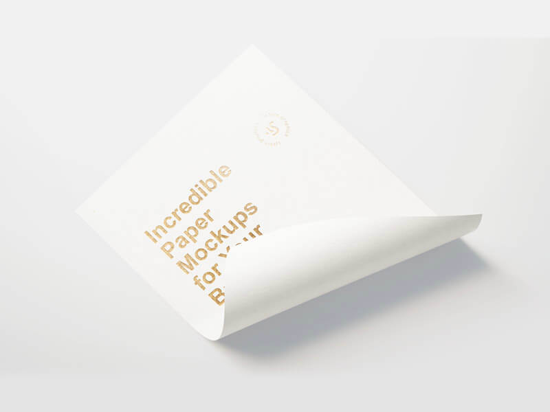 Branding Paper Mockup [PSD]