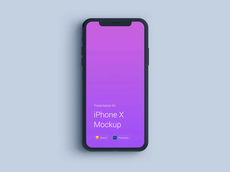 iPhone X Mockup, Changeable Materials