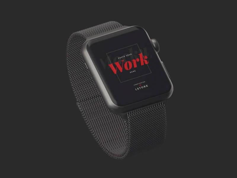 Animated Mockup Apple Watch