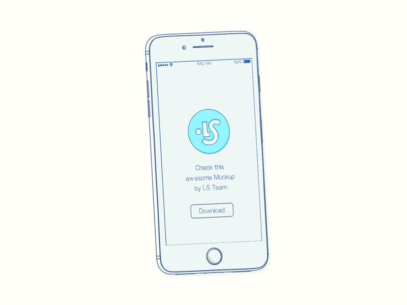 Free Sketchy Animated iPhone Mockup