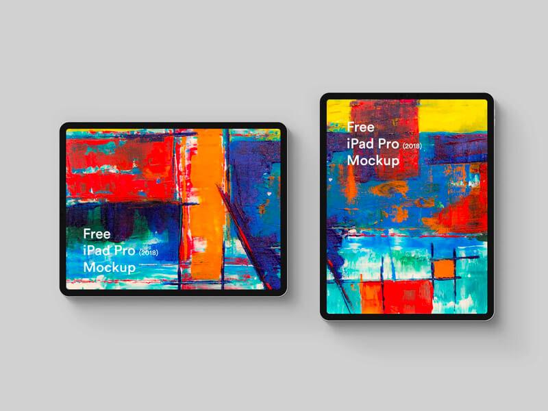 Free iPad Pro 2018 Easy to use Mockup