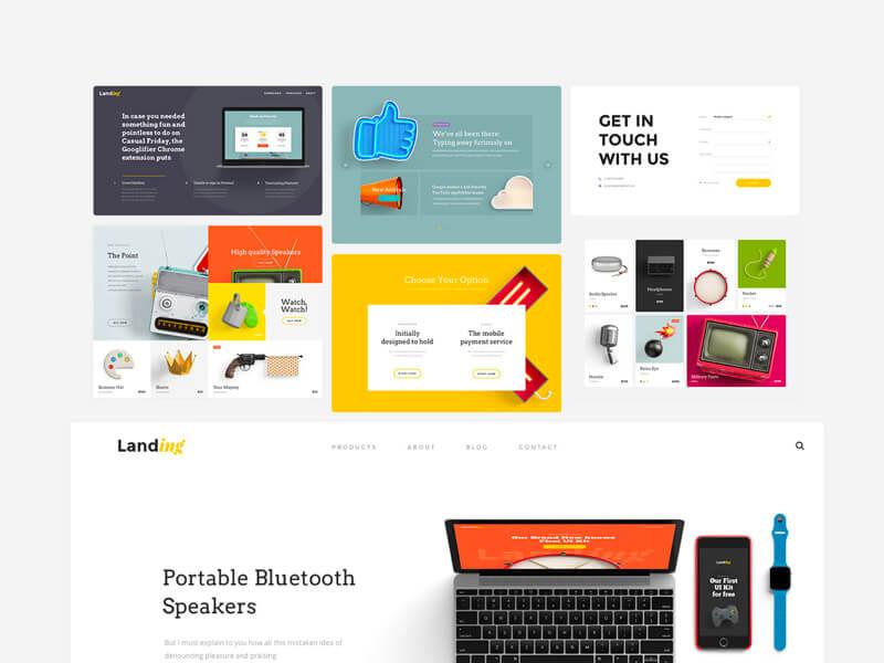 UI Kit Landing Page