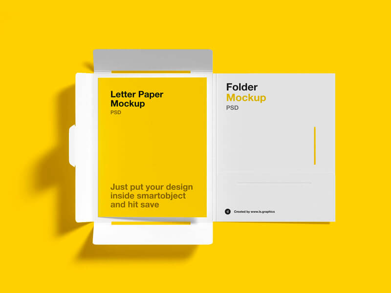 Download brochure folder mockup for free