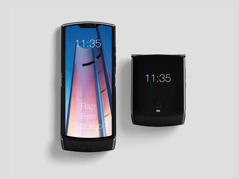 Free Motorola Razr Mockup