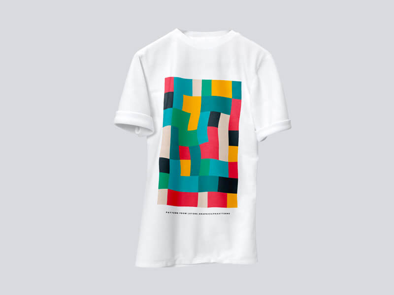 Different Colours Free T-Shirt Mockup