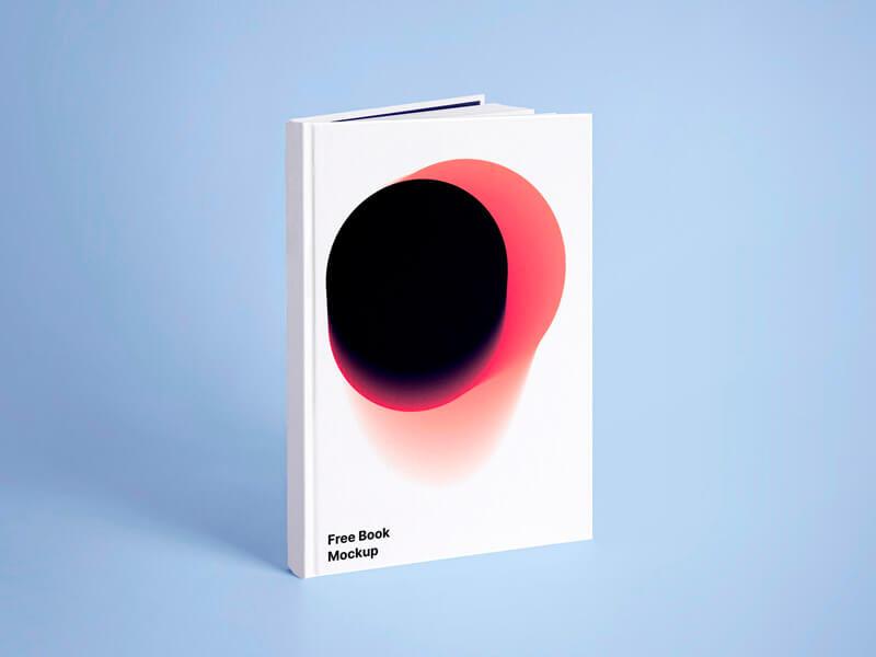 Free White Book Realistic Mockup
