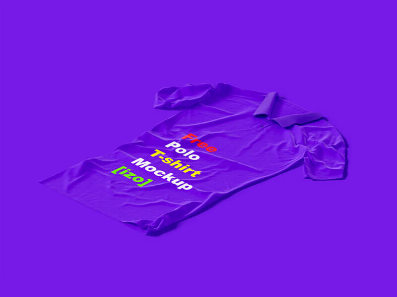 Free Polo T-shirt Mockup