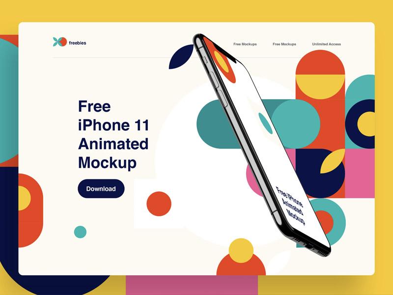 iPhone 11 Pro Twisted Animation Mockup