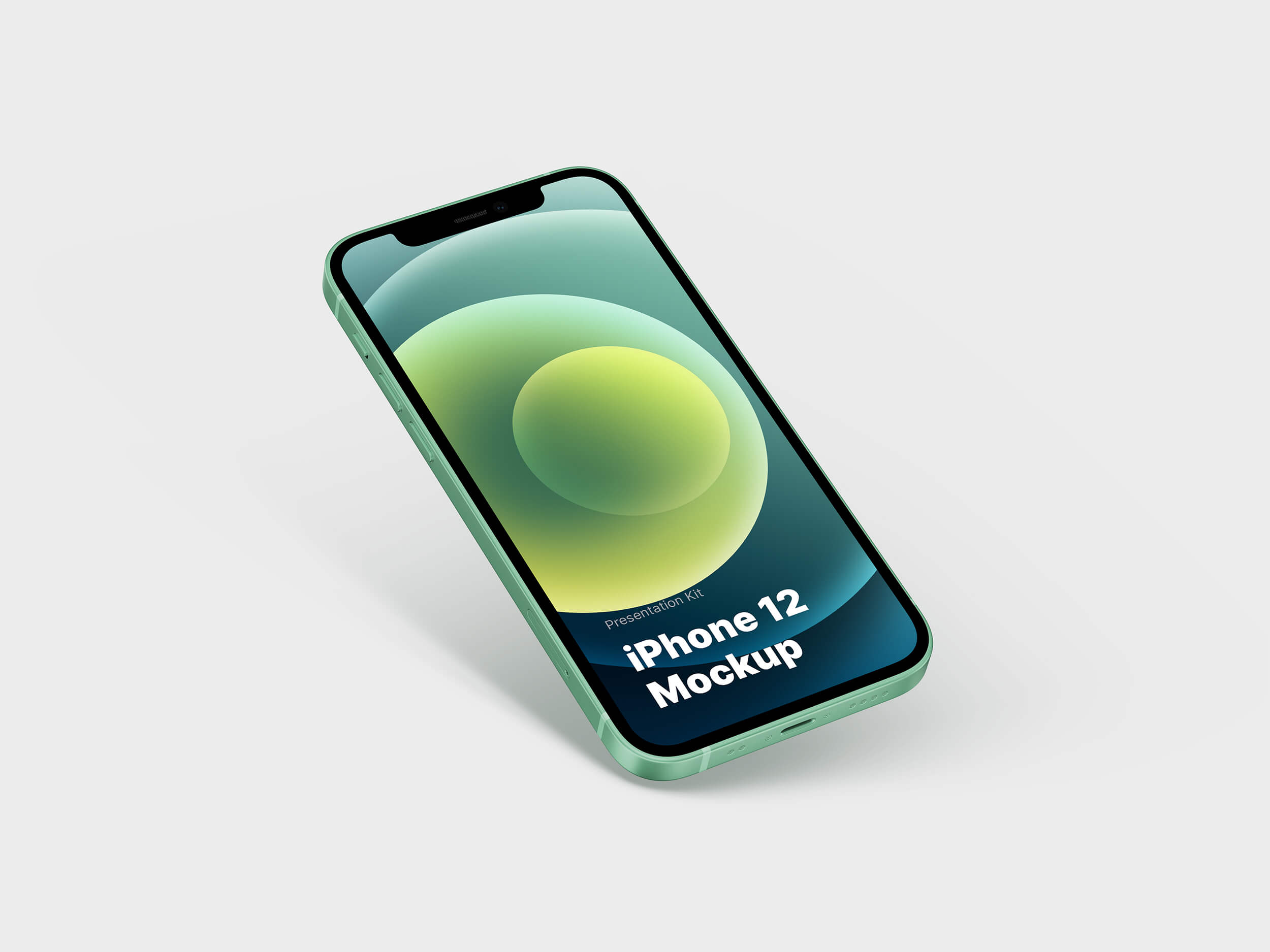 Green iPhone 12 Mockup