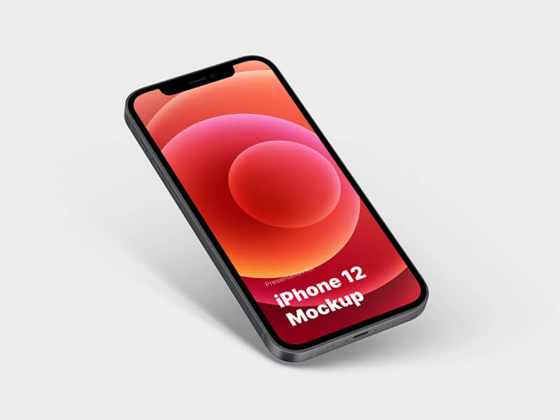 Download iPhone 12 mockups for free. Different colors and materials. Clay version.