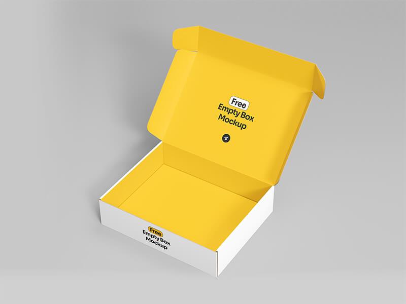 Free Empty Box Mockup