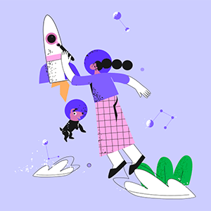 Funny and energy-filled mix-n-match illustrations