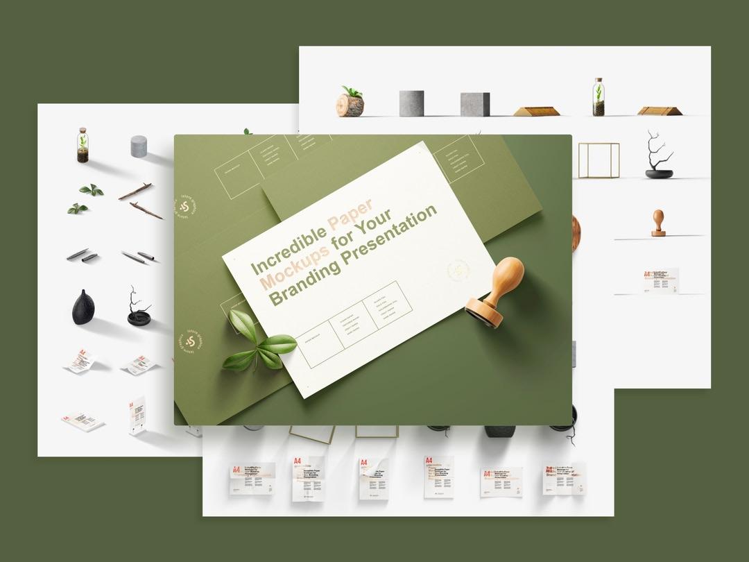 Paper Branding Mockups Bundle