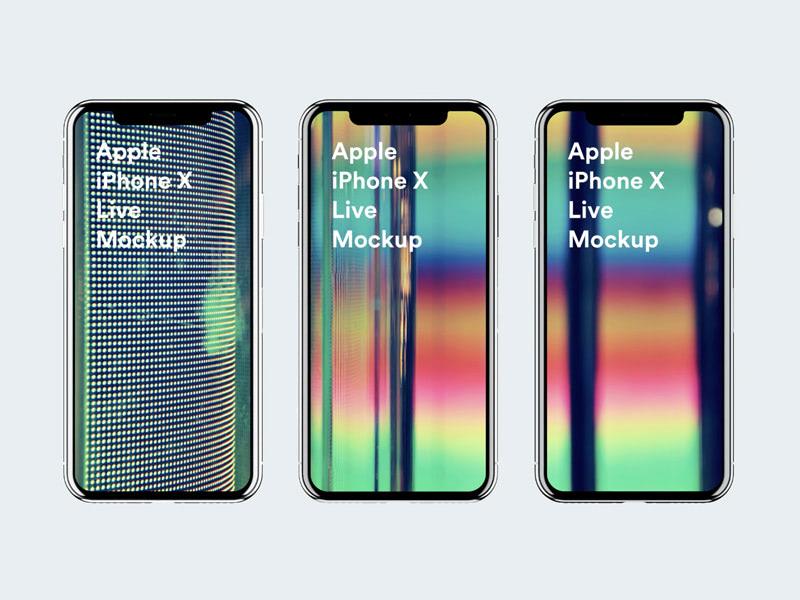 iPhone X Live Mockups