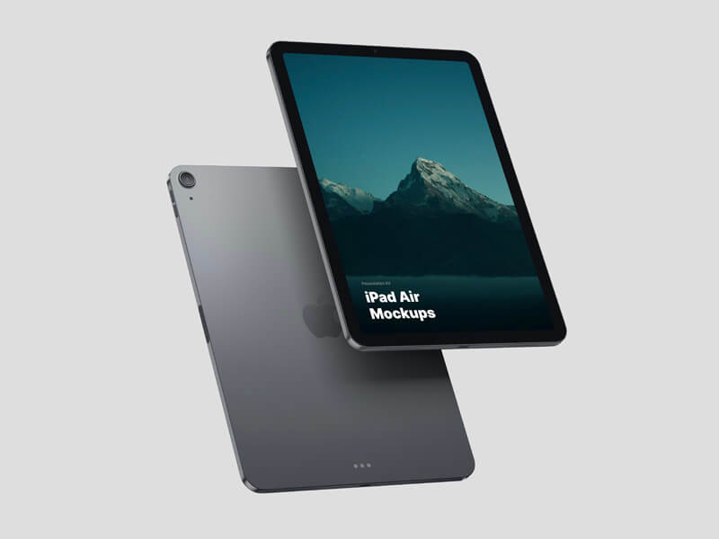 Today we publish the iPad Air mockup. The mockup is available in three materials: Silver, Space Gray and changeable clay material.
