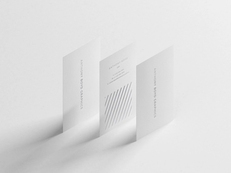 Free Vertical Business Cards Mockup