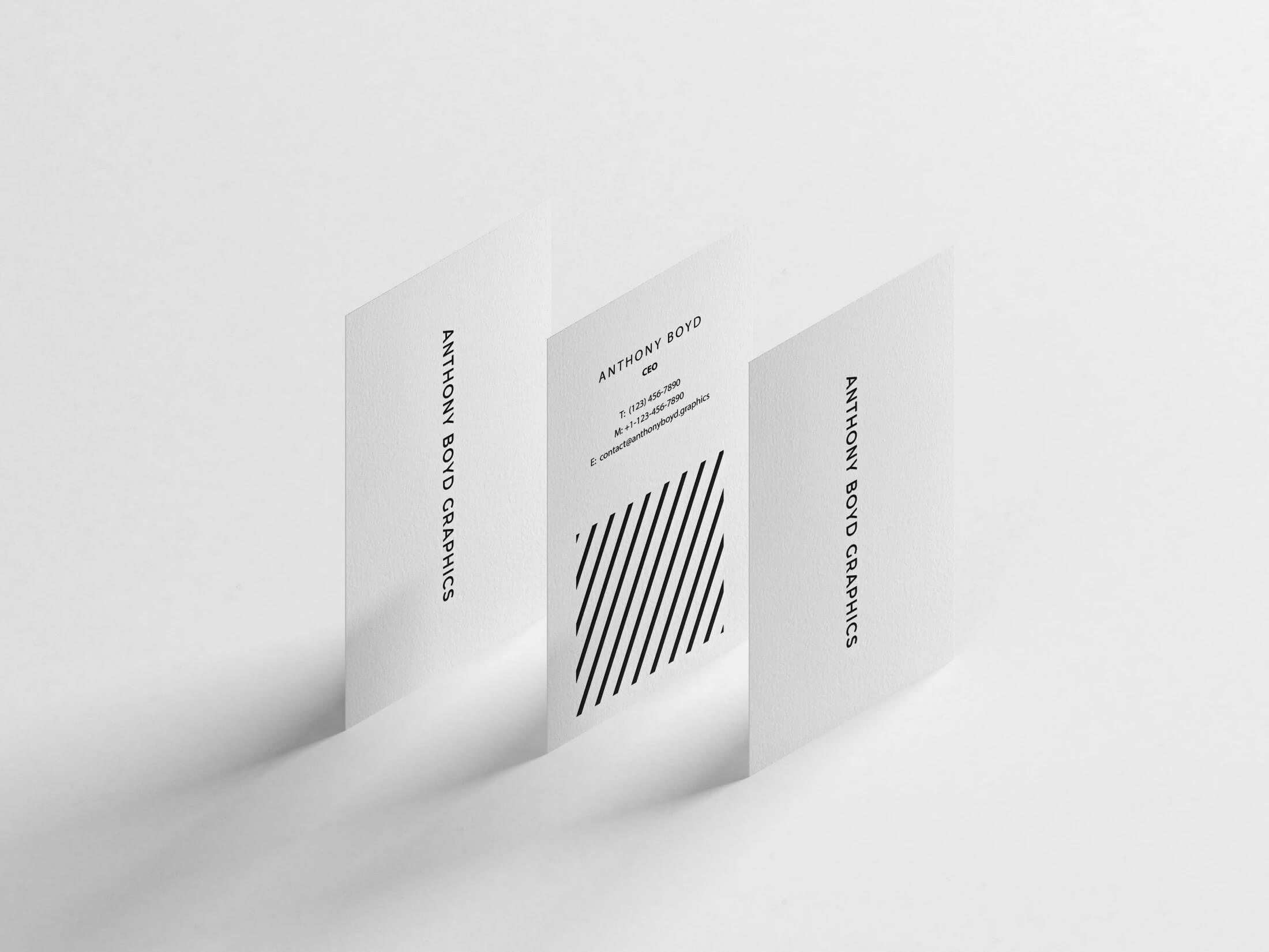 Vertical business card mockups